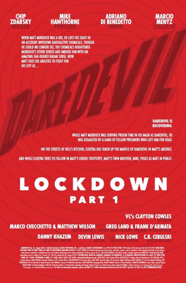 Marvel Preview: Daredevil #31