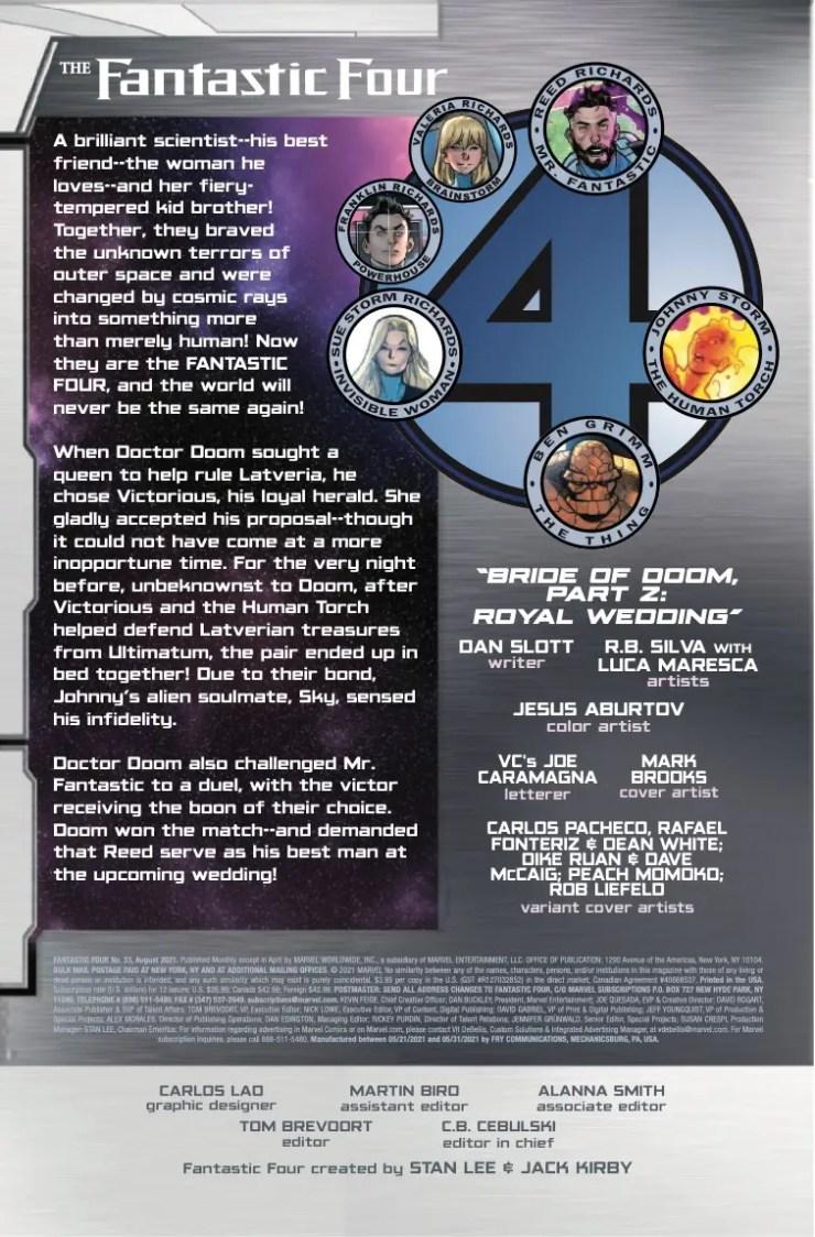 Marvel Preview: Fantastic Four #33
