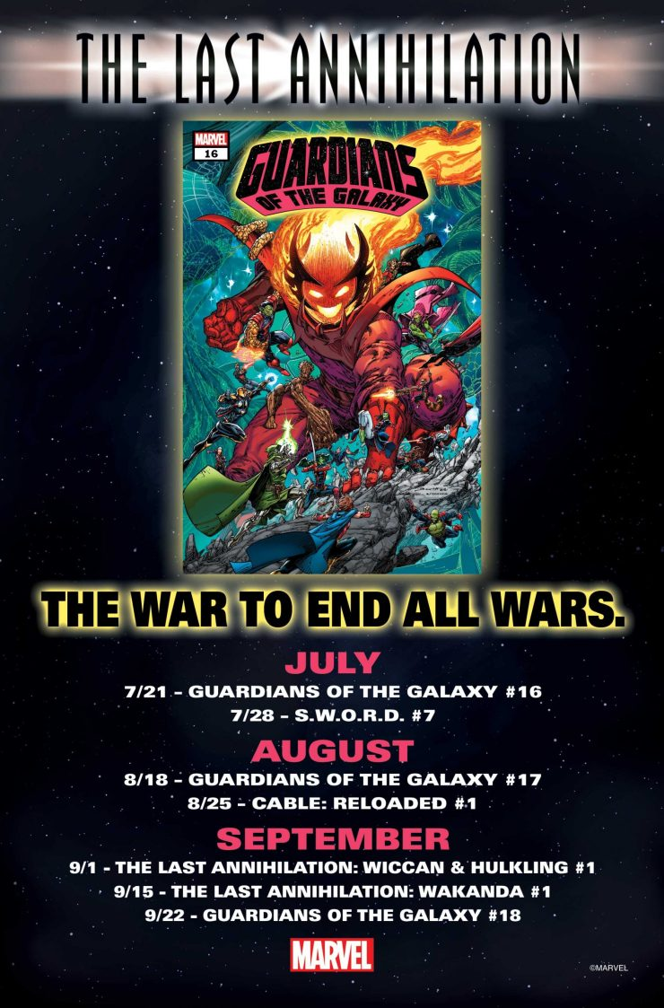 Marvel teases The Last Annihilation ahead of July 21st launch