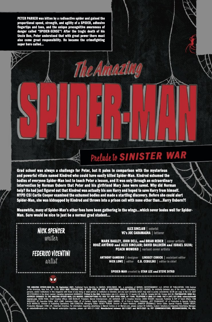 Marvel Preview: Amazing Spider-Man #70