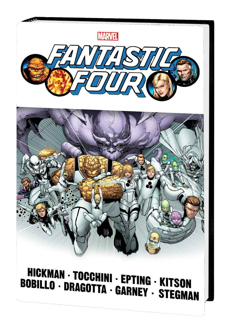 FANTASTIC FOUR BY JONATHAN HICKMAN OMNIBUS VOL. 2 HC CAMUNCOLI COVER [NEW PRINTING, DM ONLY