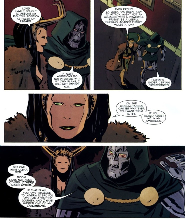 Loki never bats an eye at Balder's attempts to sway her. Credit: Marvel