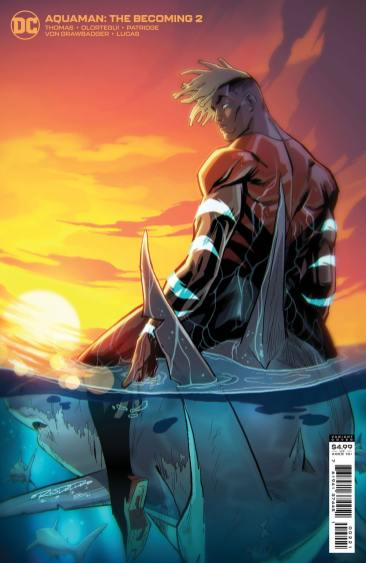 Aquaman: The Becoming #2 cover by David Talaski; variant cover by Khary Randolph & Emilio Lopez