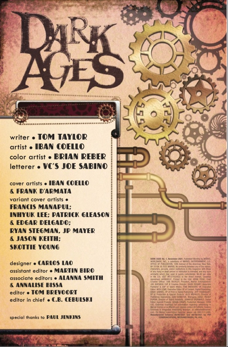 Marvel Preview: Dark Ages #1