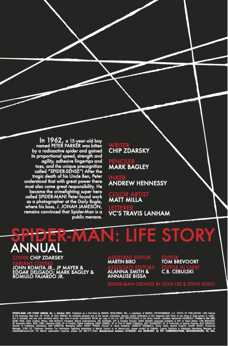 Marvel Preview: Spider-Man: Life Story Annual 2021