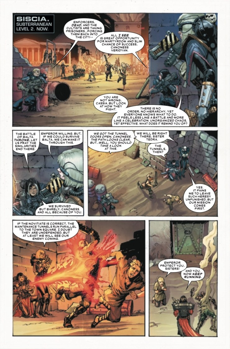 Marvel Preview: Warhammer 40,000: Sisters of Battle #2