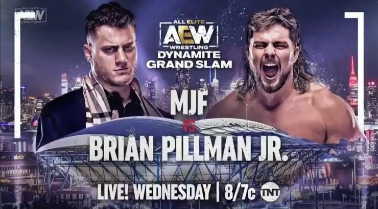 AEW Dynamite Grand Slam: MJF vs. Brian Pillman, Jr.