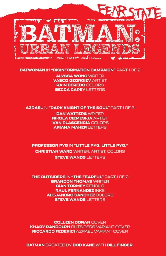DC Preview: Batman: Urban Legends #8