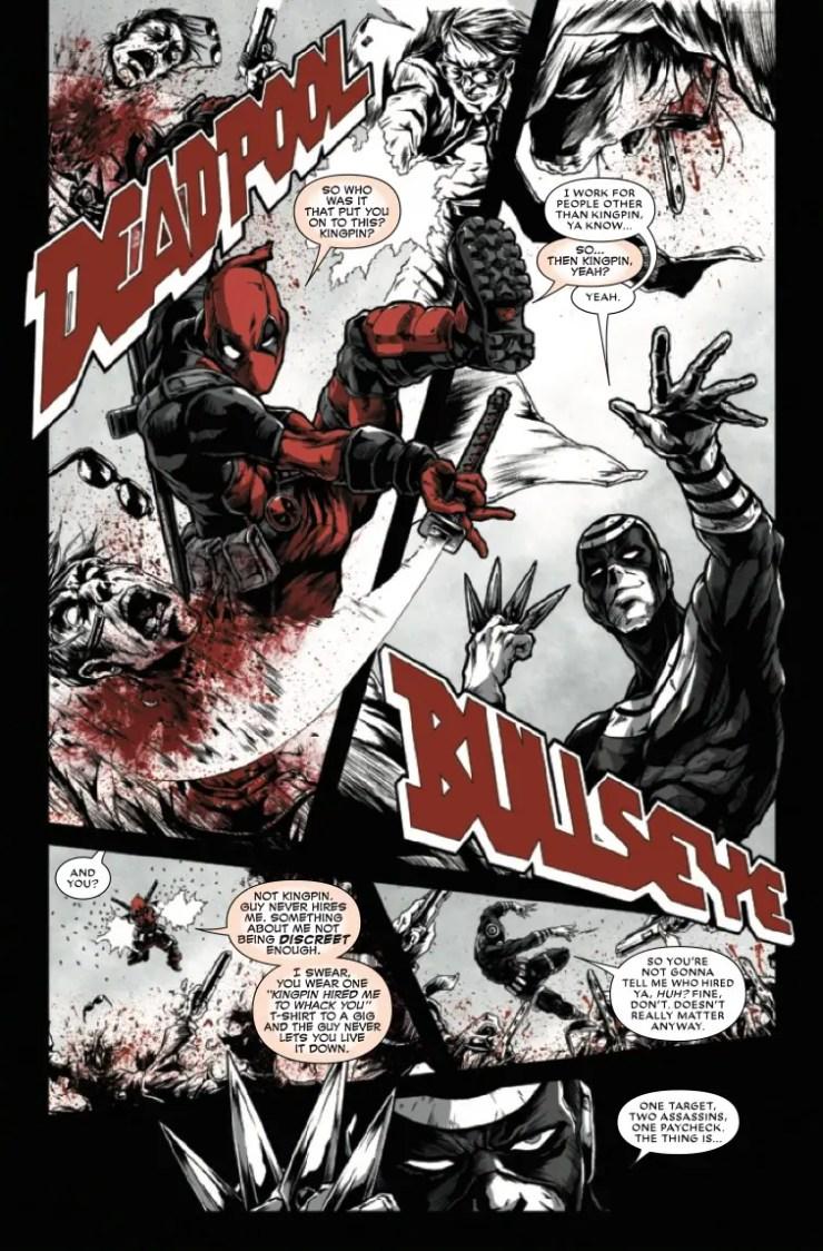 Marvel Preview: Deadpool: Black, White & Blood #3