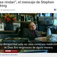 """""""No se rindan"""", el mensaje de Stephen Hawking a propósito de los Paraolímpicos (BBC Mundo)"""