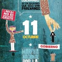 #BecaNoEsGratuidad.Marcha 11 de octubre de 2012, 18:00 hrs. Plaza Italia - Av. Bustamante - Av. Matta