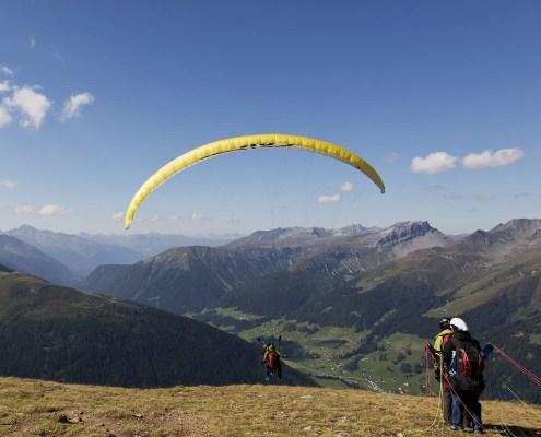 Ablauf Start: Gleitschirm-Tandemflug vom Jakobshorn