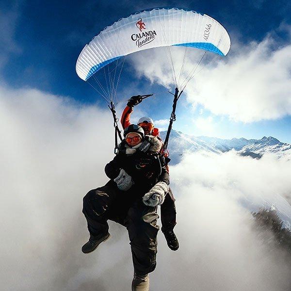 Early Bird Paragliding Flight Davos