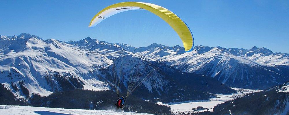 Paragliding Fluggebiet Klosters Gotschna Süd-Startplatz