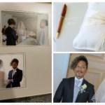 結婚式のアルバムとデータ着。