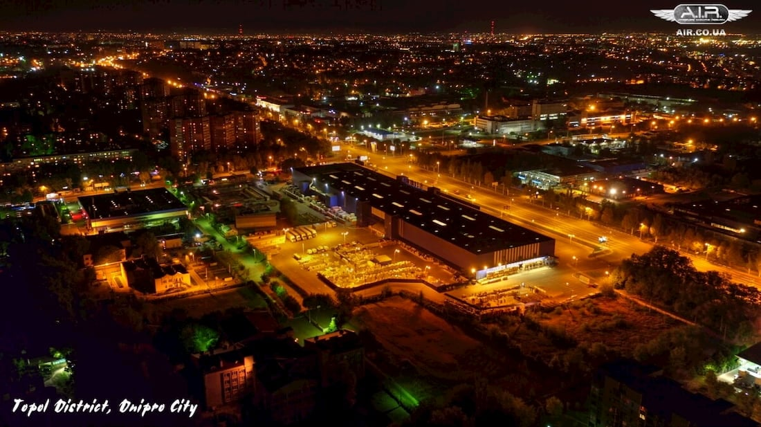 Topol district taken with quadcopter