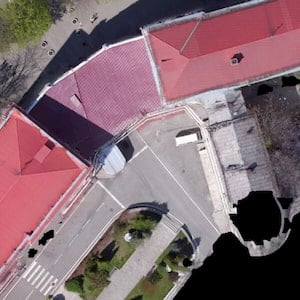 AIR: Objects and terrain orthomosaic (aerial survey)