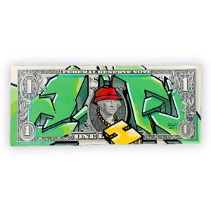Dessin graffiti sur dollar américain | Air1duc