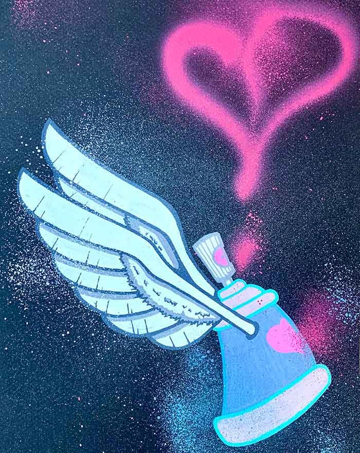 Graffiti sur papier | Air1Duc - Artiste peintre