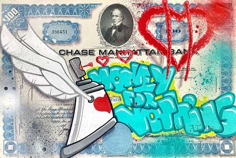 Graffiti sur Bon au Porteur | Air1Duc - Artiste peintre
