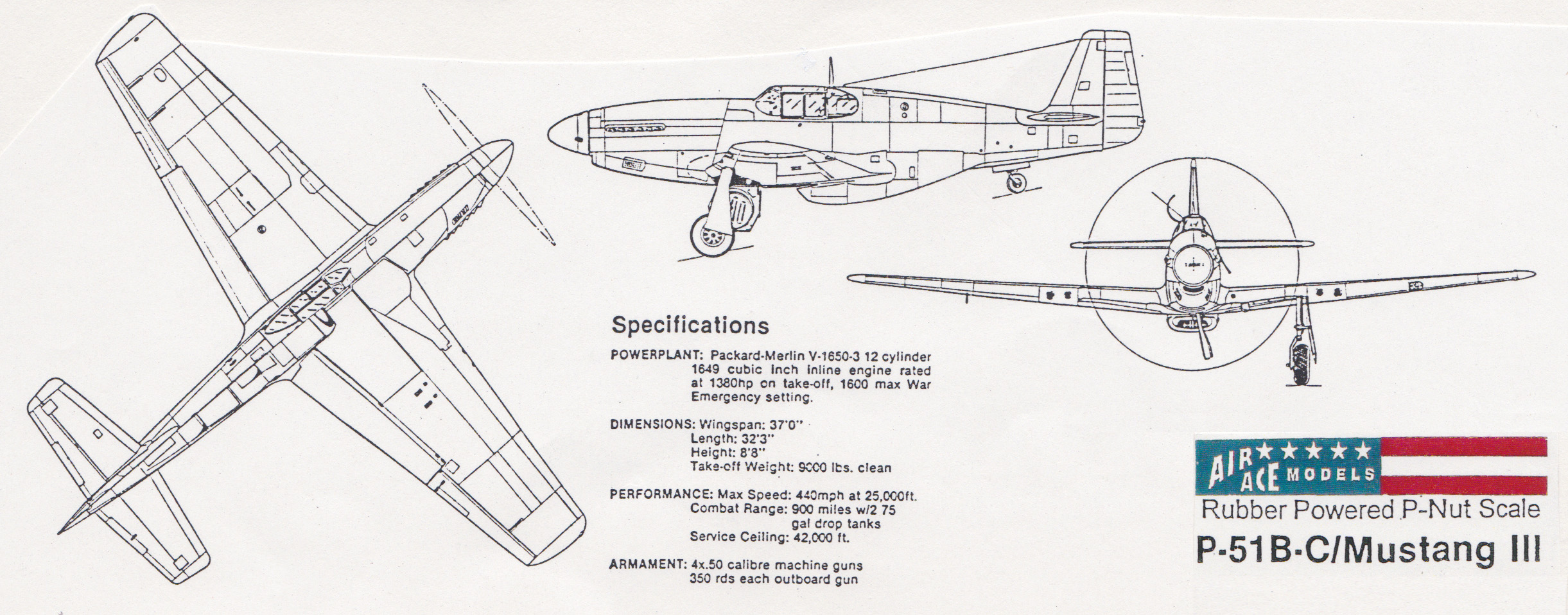P 51 B C Mustang Iii Ding Hao Air Ace Models