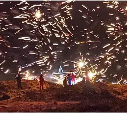 Camlough Mountain New Years Eve Fireworks Display