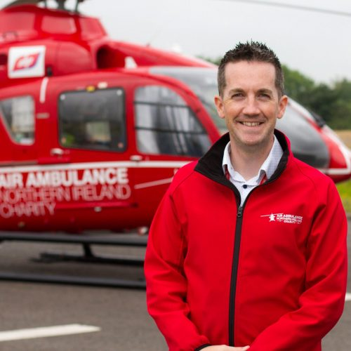Damien McAnespie, Air Ambulance NI Area Fundraising Manager.
