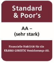 Kravag Drohnen Kasko Versicherung Österreich sehr stark Rating