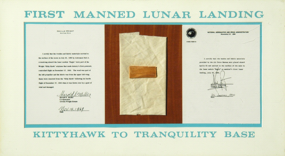 1903 Wright Flyer Fabric Taken to Moon Apollo 11