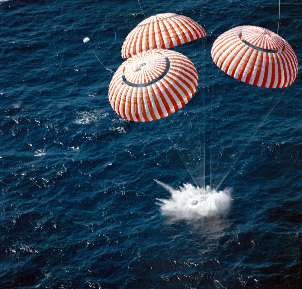 Image result for apollo 7 splashdown