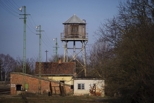 American Western Cowboy movie type water tower from Hungary