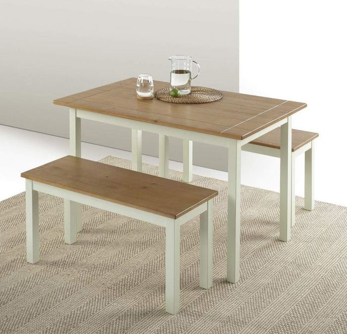[Review] Zinus Becky Farmhouse Dining Table Set with Benches