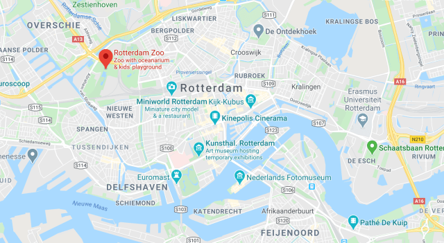 Location of Rotterdam zoo