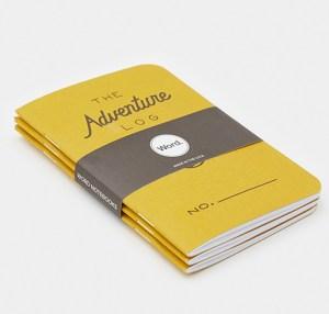 yellow The Adventure Log notebooks