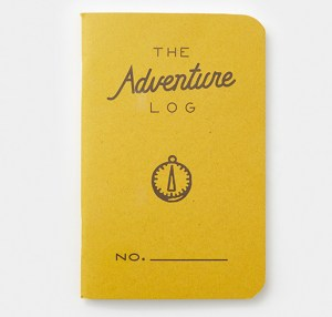yellow The Adventure Log notebooks