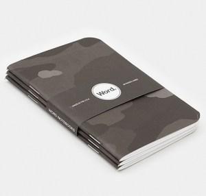 grey camo notebook