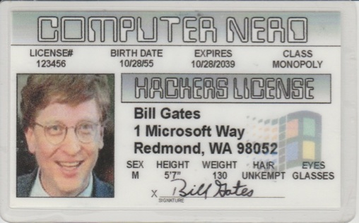 With all this renewed interest in hacking, information security, and computer development, I thought it prudent to dig out my Hacker's License