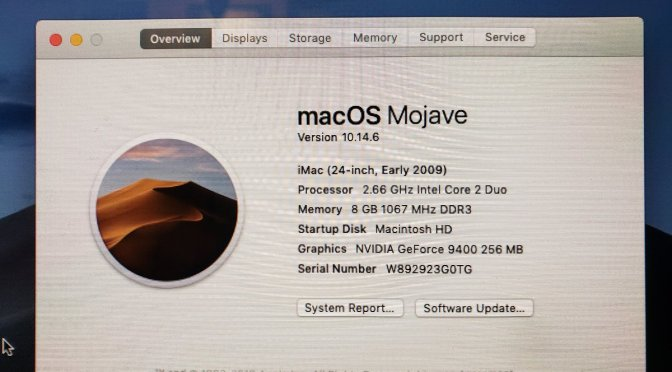 Installing Mojave on a 12-year-old iMac