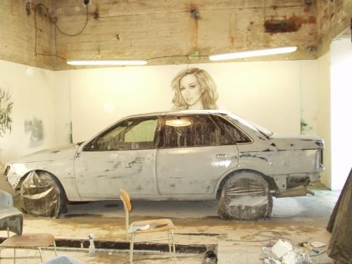 wet-sanded car