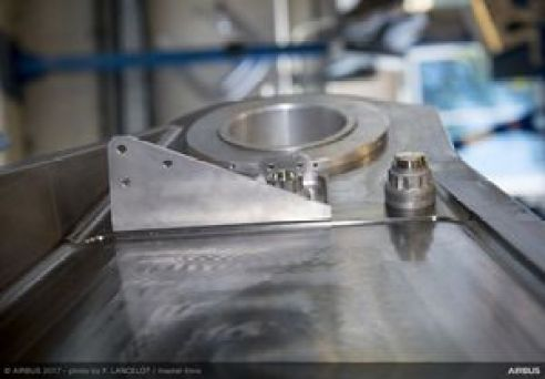 First titanium 3D-printed bracket on A350
