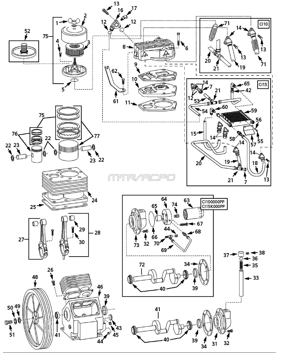 Speedaire 5z405c Air Compressor Parts Speedaire Parts