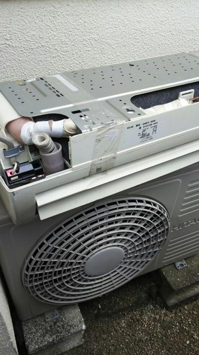 広島市内でエアコン回収