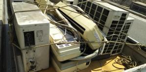 西日本豪雨の被災地でのエアコン回収について