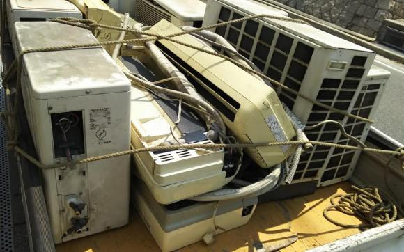 被災地のエアコン回収