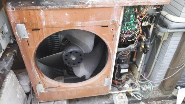 業務用エアコン室外機のみ取り外し回収