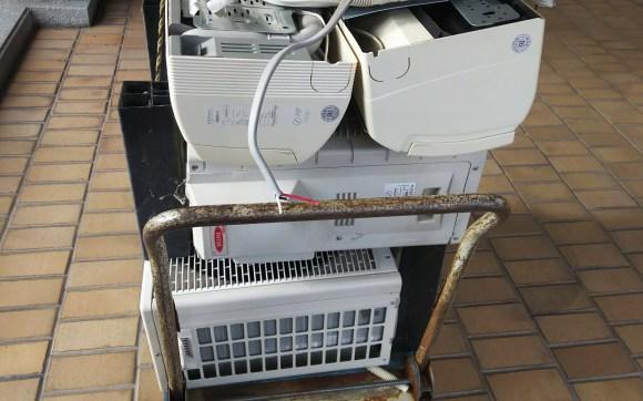安佐南区でエアコン回収