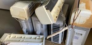 中区マンション取り外し済みエアコン4台無料回収