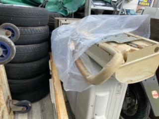 安佐南区エアコン、バイク、アルミホイルなど回収