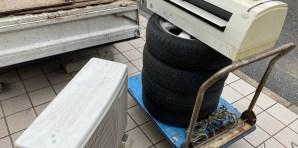 安佐南区マンションで取り外し済みエアコン、不用品回収