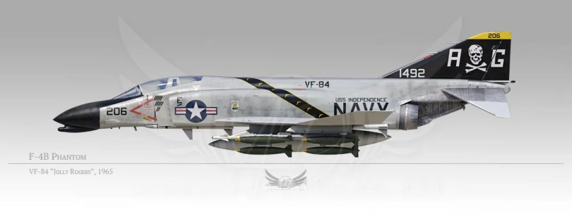 "F-4B Phantom, VF-84 ""Jolly Rogers"", 1965"